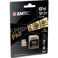 emtec »microsd uhs-i u3 v30 speedin pro« geheugenkaart zwart