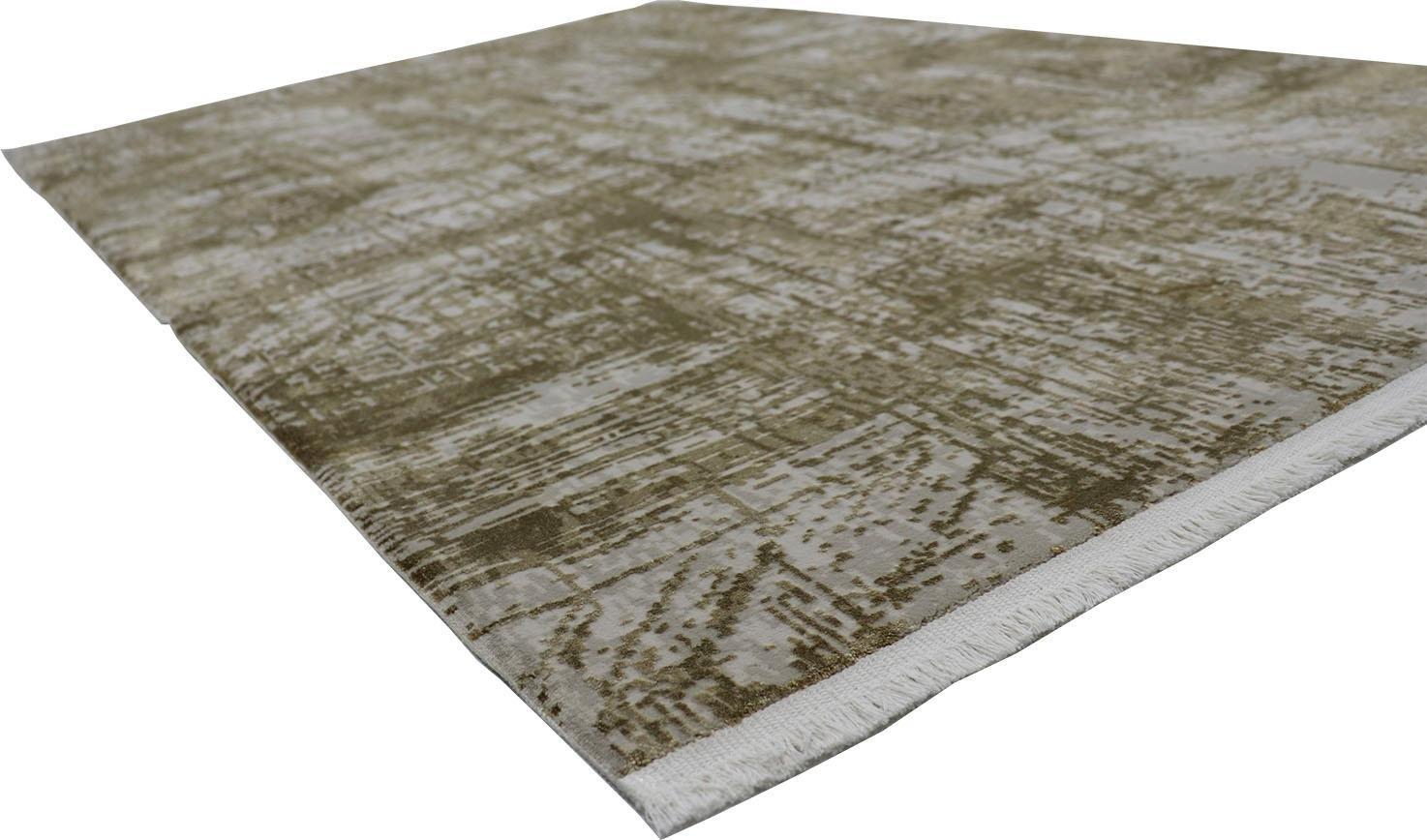 RESITAL The Voice of Carpet vloerkleed Couture 100 Korte pool, geweven, modern design, reliëfstructuur, lichte glans door viscose, met franje, woonkamer nu online bestellen