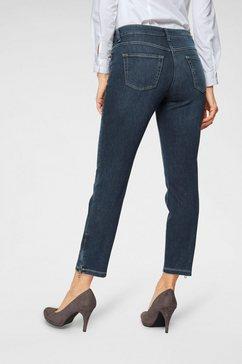mac 7-8 jeans dream chic verkort model met ritssluiting blauw