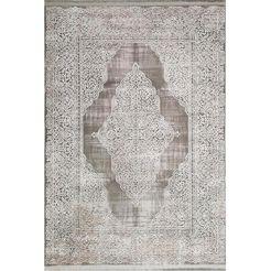 resital the voice of carpet vloerkleed »vestige 017«, resital the voice of carpet, rechthoekig, hoogte 11 mm, machinaal geweven beige