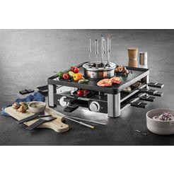 wmf raclette lumero gourmet station 3-in-1 zilver