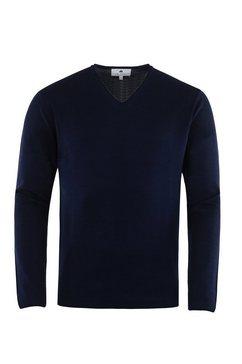 hajo hoogwaardige trui met v-hals »tom ripley« blauw