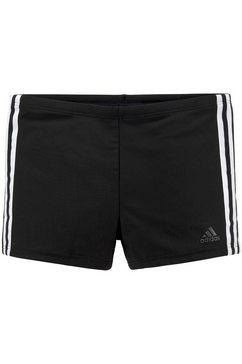 adidas performance zwemboxer in de klassieke 3-strepen-look zwart