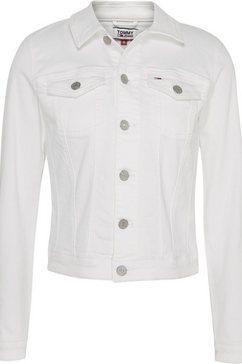 tommy jeans jeansjack »slim trucker jacket cnw« wit