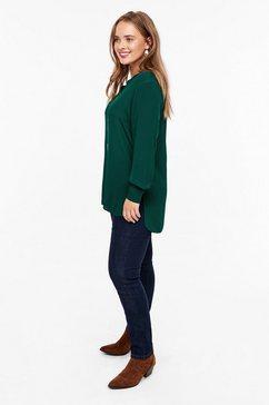 triangle blouse van batist, met een kanten detail groen