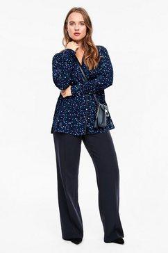 triangle blouse van batist, met een kanten detail blauw