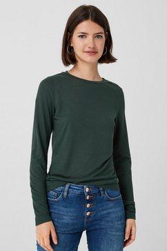 q-s designed by shirt met lange mouwen bruin