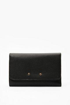 s.oliver portemonnee met klep en logoplaatje zwart