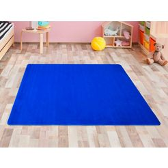 primaflor-ideen in textil vloerkleed voor de kinderkamer ronde zitplek speel tapijt blauw