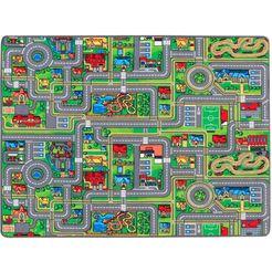 primaflor-ideen in textil vloerkleed voor de kinderkamer »streets«, primaflor-ideen in textil, rechthoekig, hoogte 5 mm multicolor