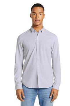 tom tailor denim overhemd met lange mouwen grijs