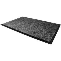 primaflor-ideen in textil mat »clean«, primaflor-ideen in textil, rechthoekig, hoogte 9 mm grijs