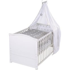roba compleet bed »komplettbettset, 70x140 cm little stars«, 6-tlg. wit
