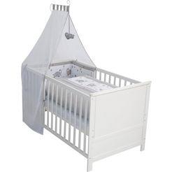 roba compleet bed »komplettbettset, 70x140 cm jumbo twins grau«, 6-tlg. wit