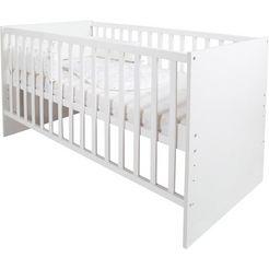 roba ledikantje safe asleep magische sterren incl. matras, hoofdbeschermer en slaapzak (4-delig) wit