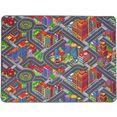 primaflor-ideen in textil vloerkleed voor de kinderkamer big city straten-speelkleed, straatbreedte ca. 9 cm, kinderkamer multicolor