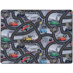 primaflor-ideen in textil vloerkleed voor de kinderkamer »cars«, primaflor-ideen in textil, rechthoekig, hoogte 5 mm grijs
