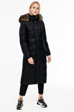 s.oliver red label doorgestikte jas zwart