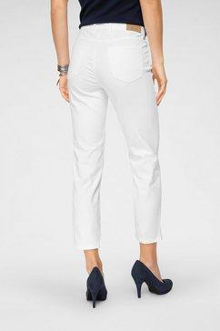 toni ankle jeans »zip-slim« wit