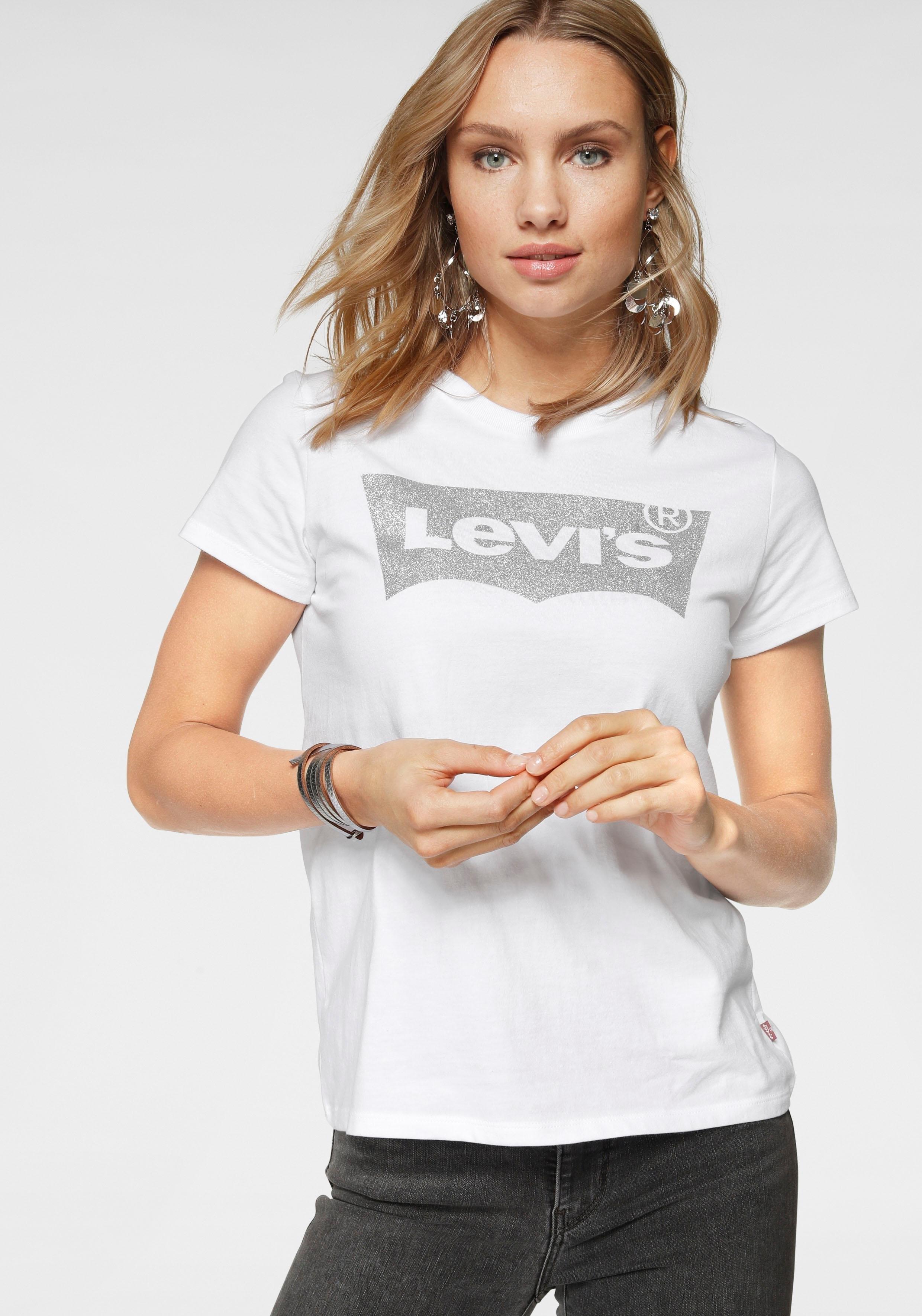Levi's T-shirt Batwing met logo-glitterprint bij OTTO online kopen