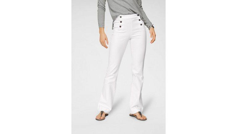 Arizona wijd uitlopende jeans »Flare - met logoknopen voor«