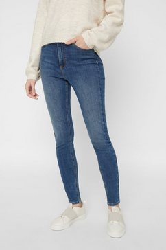 pieces skinny fit jeans blauw