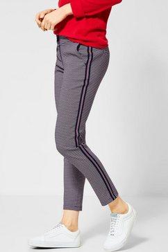 cecil broek met elastische band rood