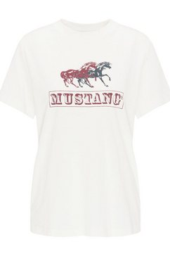 mustang t-shirt »audrey print iconic« wit