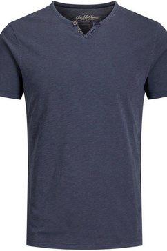 jack  jones shirt met v-hals »split v neck shirt« blauw