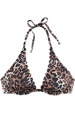 lascana bikinitop met beugels »lexa« bruin