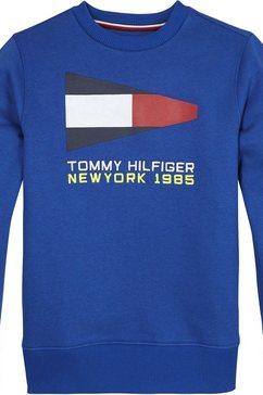 tommy hilfiger sweatshirt »sailing flag graph« blauw