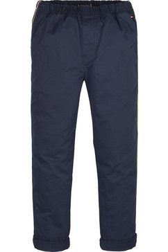 tommy hilfiger comfortbroek »pull on tape chino« blauw