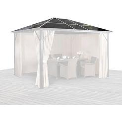 konifera los dak voor tuinprieel »aruba«, dakpanelen voor »aruba« 300x300 cm bruin