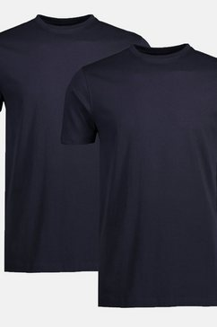 two-pack t-shirts ronde hals blauw