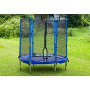 trampoline, 137 cm doorsnede, spartan, incl. veiligheidsnet blauw