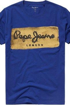 pepe jeans shirt met ronde hals »charing« blauw
