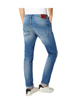 pepe jeans tapered jeans stanley blauw