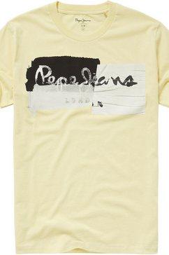 pepe jeans shirt met print »stepney« geel