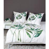 janine tweezijdig te gebruiken overtrekset modern art 42066 met bladeren (2-delig) groen