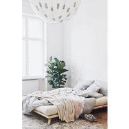 karup design massief houten ledikant »senza« beige