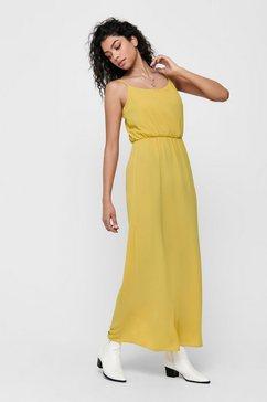 only effen gekleurde maxi jurk geel