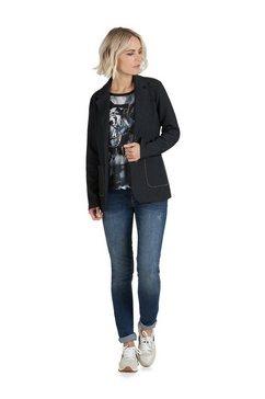public casual blazer »mit aufgesetzten taschen« blauw