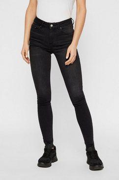 pieces normal waist jeans zwart