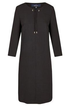 daniel hechter elegante jurk met siernaad zwart