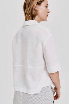 opus blouse met korte mouwen »friedi« wit