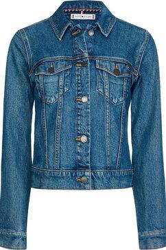 tommy hilfiger jeansjack »shrunk jkt eden« blauw