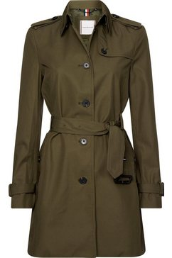tommy hilfiger trenchcoat »single breasted trench« groen