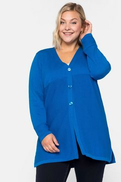 sheego casual lang vest blauw
