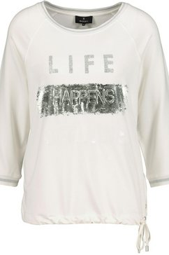 monari shirt met 3-4-mouwen wit