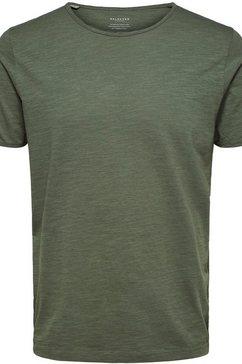 selected homme t-shirt »morgan o-neck tee« groen